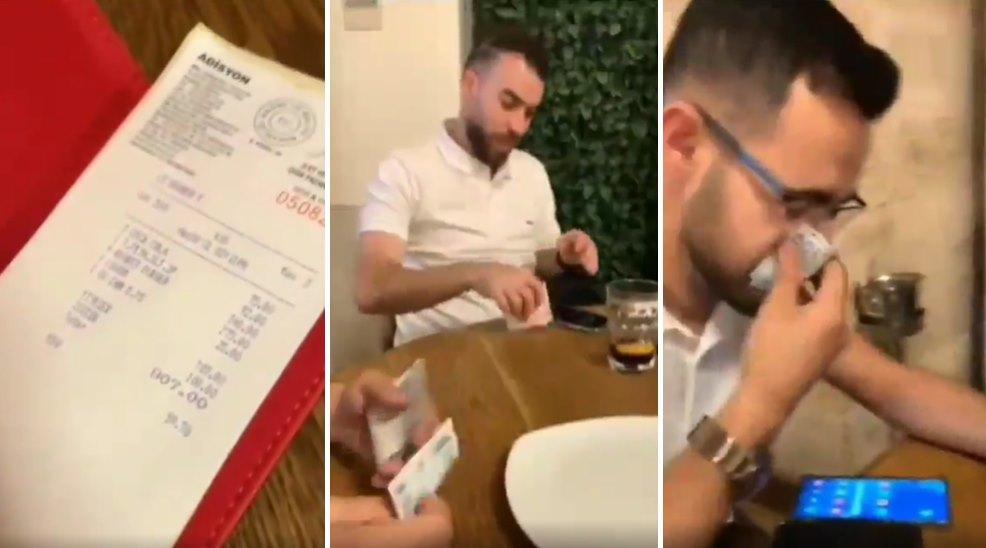 Türkiye'ye Gelen Turistlerin Türk Lirası ile Burun Silip Hesap Ödemesi Tepki Çekti