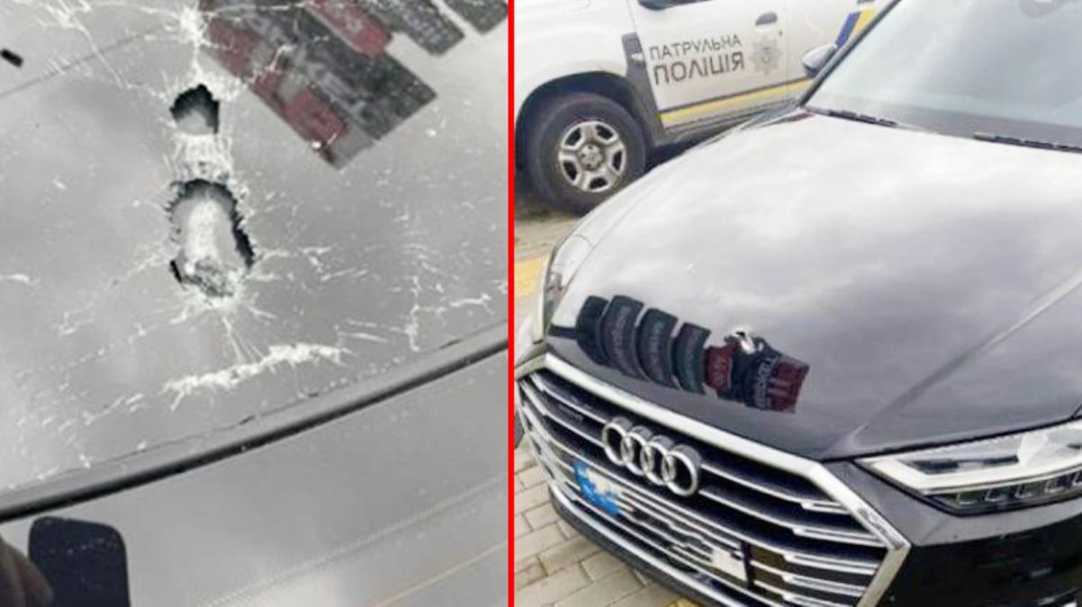 Ukrayna Cumhurbaşkanı Yardımcısının aracına silahlı saldırı Kurşun yağdırdılar