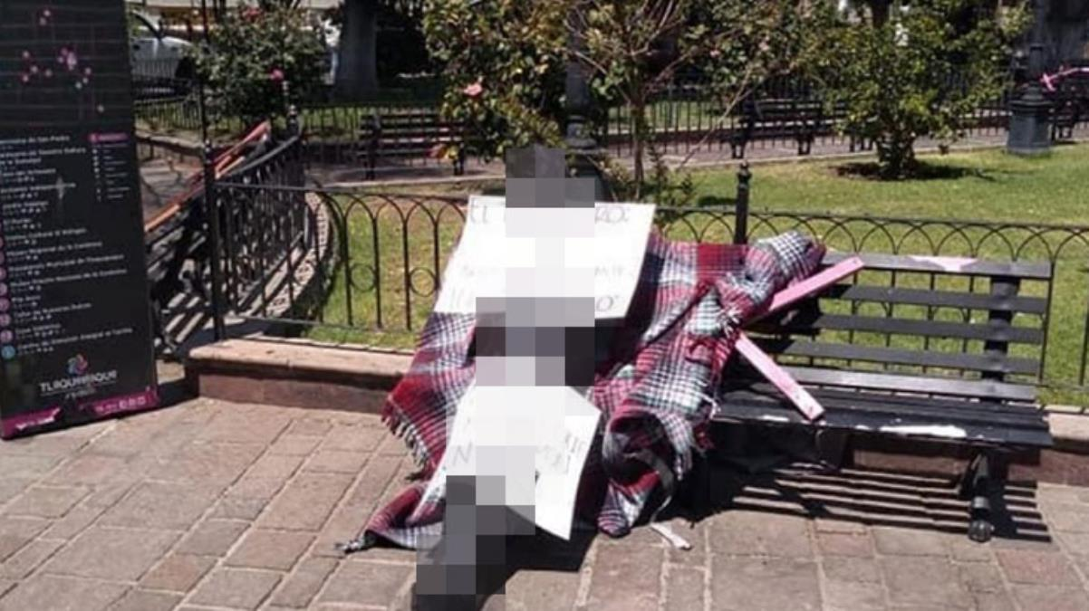 Uyuşturucu karteli liderinin cansız bedeni, şehir meydanındaki parkta poşete sarılı halde bulundu