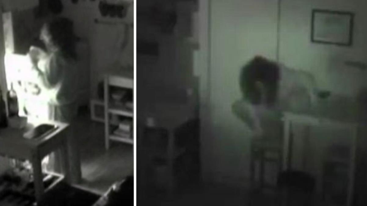Yemekler sürekli kayboluyordu, mutfağa gizli kamera koydu; dolaptan kadın çıktı