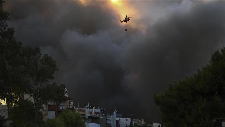 Yunanistan'da Orman Yangınları Tekrar Başladı: 'Çok Yüksek Risk' Uyarısı Yapıldı