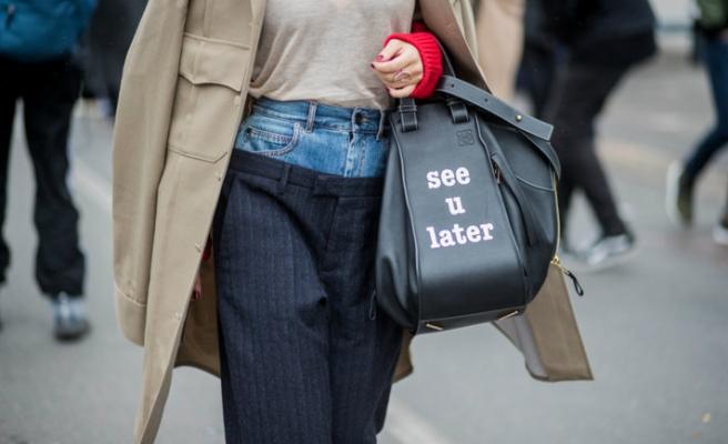 Çift belli: Kumaş-denim pantolon trendi