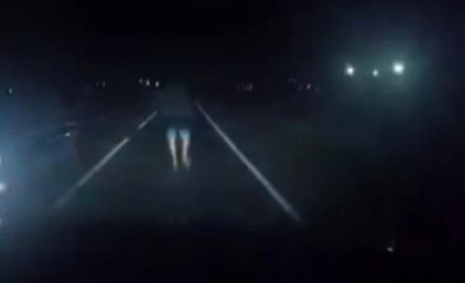 Sürücüye kötü sürpriz: O anlar kamerada