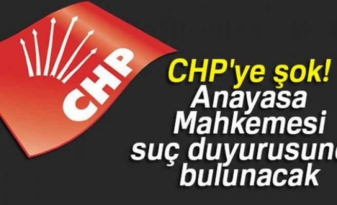 Anayasa Mahkemesi'nden CHP hakkında suç duyurusu!