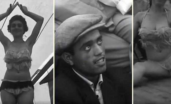 1964 Yılından Görüntülerle, Edirne'de Bir Çadır Tiyatrosunda Dans ve Striptiz Gösterisi