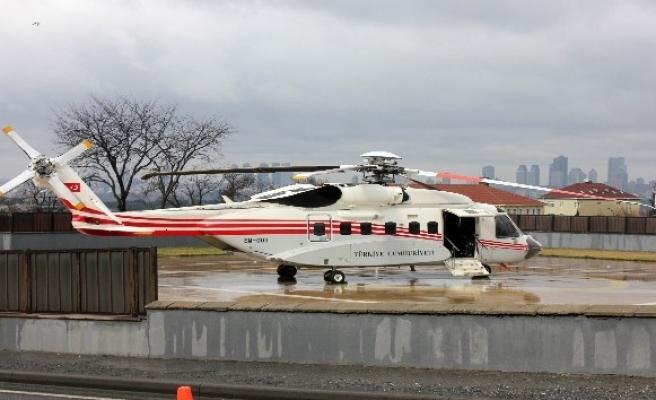 Cumhurbaşkanı Erdoğan Bursa'ya helikopterle hareket etti