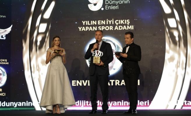 Yılın en iyi çıkış yapan spor adamı: Enver Katrancı seçildi.
