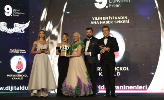 Yılın en iyi kadın ana haber spikeri: Merve Dinçkol seçildi.