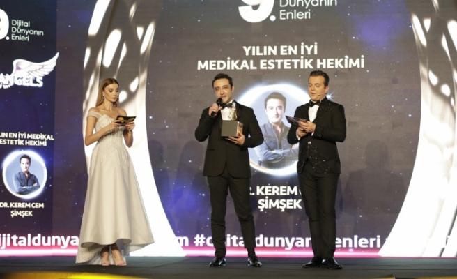 Yılın en iyi medikal estetik hekimi: Dr. Kerem Cem Şimşek seçildi.