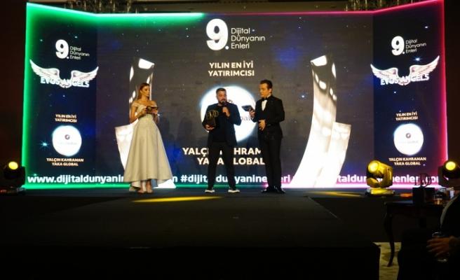 Yılın en iyi yatırımcısı: Yalçın Kahraman / Yaka Global seçildi.