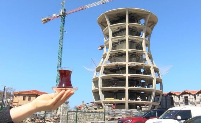 30 Metre Yüksekliğinde: Rize'ye Dünyanın En Büyük Çay Bardağı Yapılıyor
