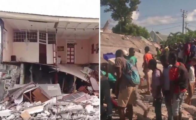 7.2 Büyüklüğündeki Deprem Sonrasında 1300'e Yakın İnsanın Hayatını Kaybettiği Haiti'den Drone Görüntüleri