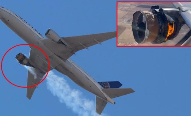 ABD'de büyük panik! 231 yolcu taşıyan uçağın motoru havada patladı, parçalar evin üzerine düştü