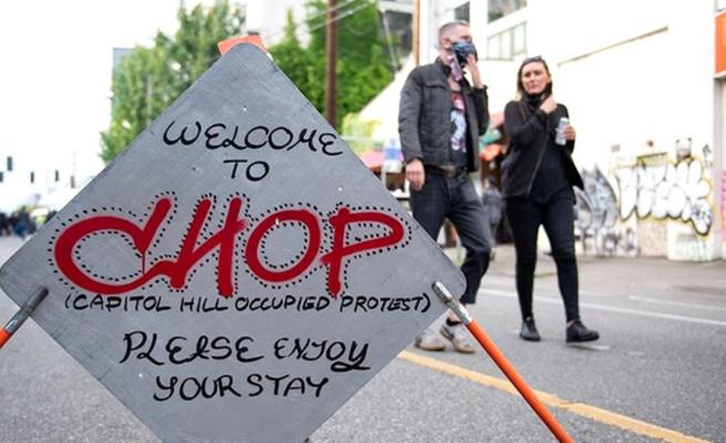 ABD'de protestocuların özerk bölge ilan ettiği şehre polis müdahalesi geldi
