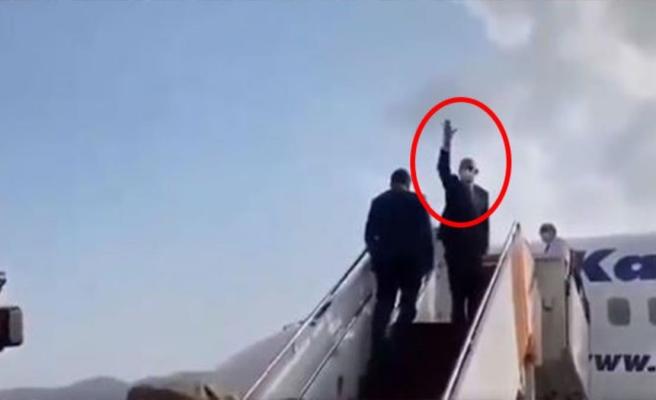 Afganistan Cumhurbaşkanı ülkesinden el sallayarak kaçtı! Videoyu çeken kişi hıçkırıklara boğuldu