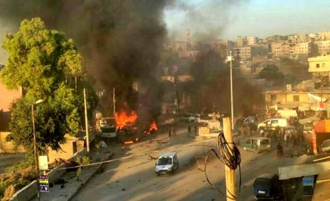 Afrin'de 11 kişinin hayatını kaybettiği bombalı saldırının görüntüleri ortaya çıktı