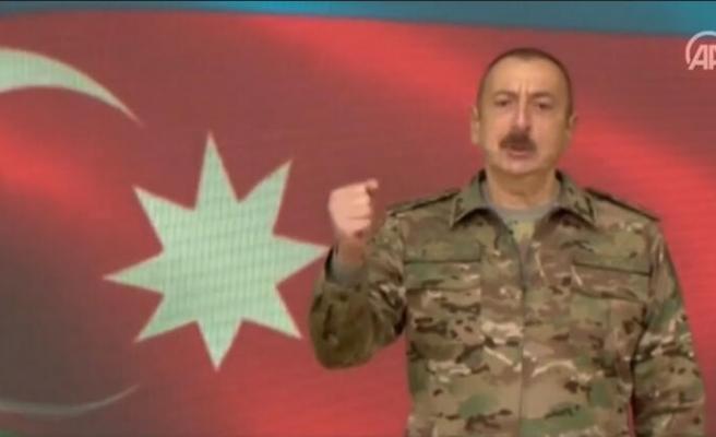 Aliyev, Azerbaycan Ordusunun Şuşa Kentini İşgalden Kurtardığını Duyurdu