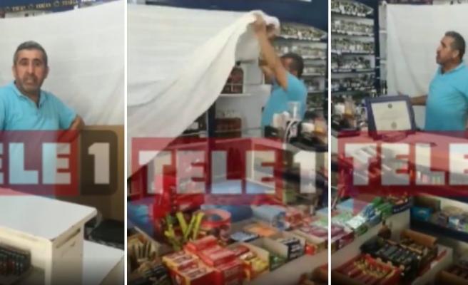 Alkol Satışı Yasak mı Serbest mi? Tokat'ta Polisler Alkol Reyonunun Üzerini Çarşafla Kapattırdı