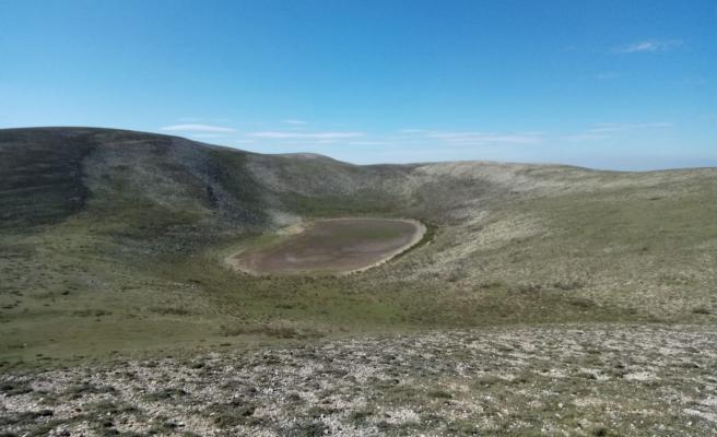 Amasya'nın en yüksek doğal gölü kurudu