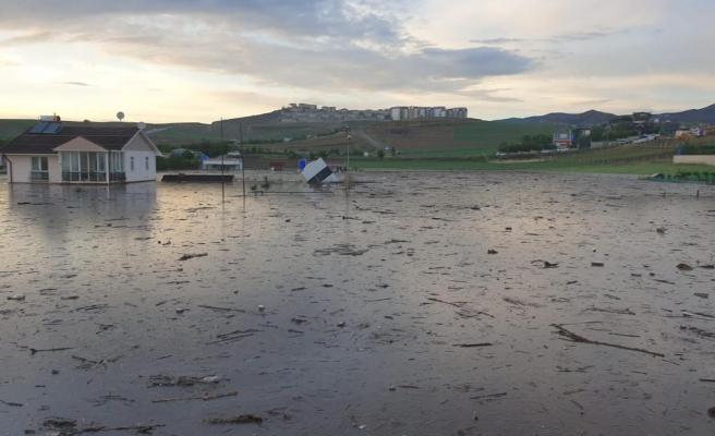 Ankara Yenimahalle'de Sağanak Nedeniyle Dere Taştı: Sele Kapılan 6 Hayvan Öldü