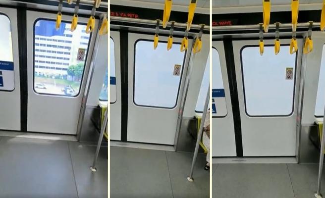Apartmanların Bulunduğu Bölgeye Geldiğinde Camları Saydamlığını Kaybederek Opaklaşan Metro