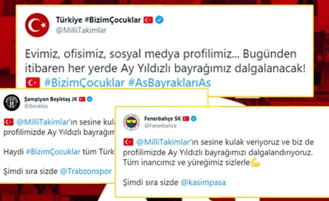 #AsBayraklarıAs: Süper Lig Kulüplerinden A Milli Takıma Destek