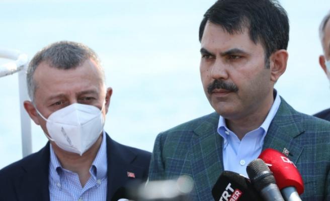 Bakan Kurum: 'Marmara'mızın kirlilikle yaşamasına müsaade etmeyeceğiz'