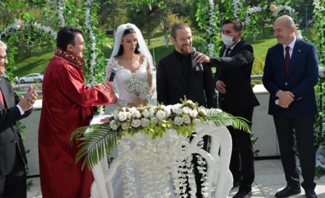 Bakan Soylu, Başdanışmanı Harun Akın'ın oğlunun nikahına katıldı