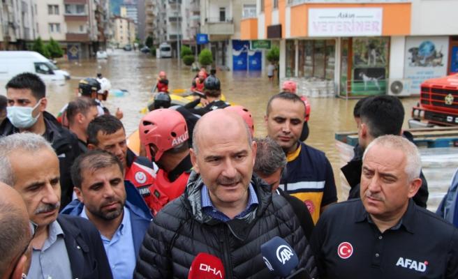 Bakan Soylu: 'Can kaybımız yok; 1-2 tane yaralımız var'