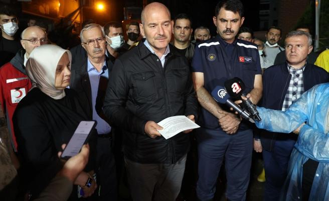Bakan Soylu: 'Kastamonu ve Sinop'ta Toplam 77 Kayıp İhbarı Var'
