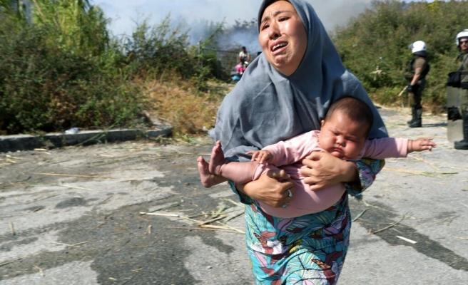 Binlerce Mültecinin Barındığı Midilli'de Bir Kez Daha İnsanlık Dramı Yaşanıyor