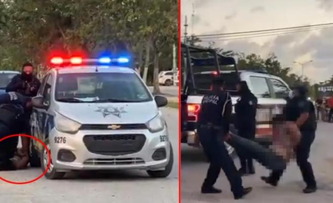 Bir ülkeyi karıştıran cinayet! Polis gözaltına alırken boynunu kırıp öldürdüğü kadını karga tulumba götürdü