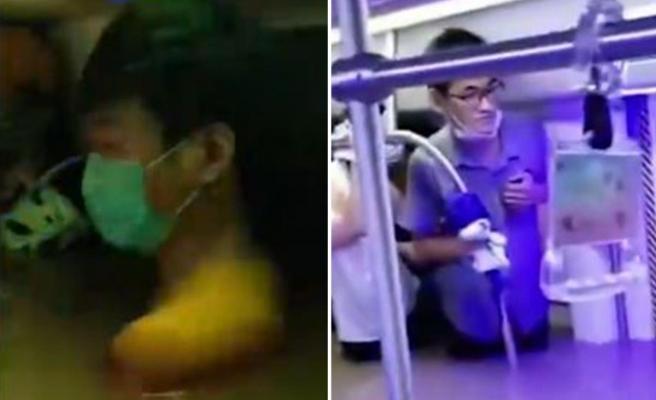 Çin'de Metroyu Sel Bastı: Yolcular Bellerine Kadar Suda Mahsur Kaldı