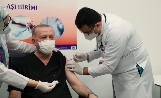 Cumhurbaşkanı Erdoğan da Koronavirüs Aşısı Yaptırdı