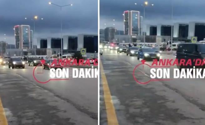 Cumhurbaşkanı Erdoğan'ın Aşı Olmaya Giderken Kaydedildiği İddia Edilen Araç Konvoyu