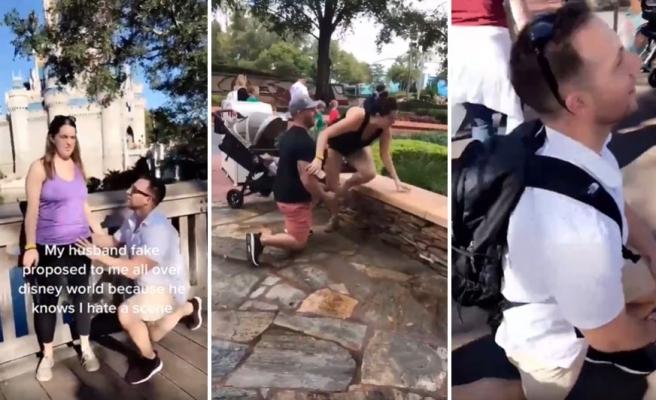 Disney World Ziyaretleri Sırasında Eşine Sürekli Olarak Fake Evlilik Teklifi Yapan Adam
