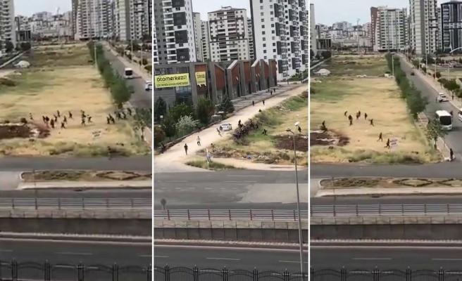 Diyarbakır'da Polis Kontrolünden Kaçan Göçmenlerin Görüntüleri