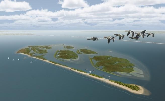 Doğal Yaşamı Korumak İçin Dünya Haritasına Eklenen İnsan Yapımı Takımada: Marker Wadden