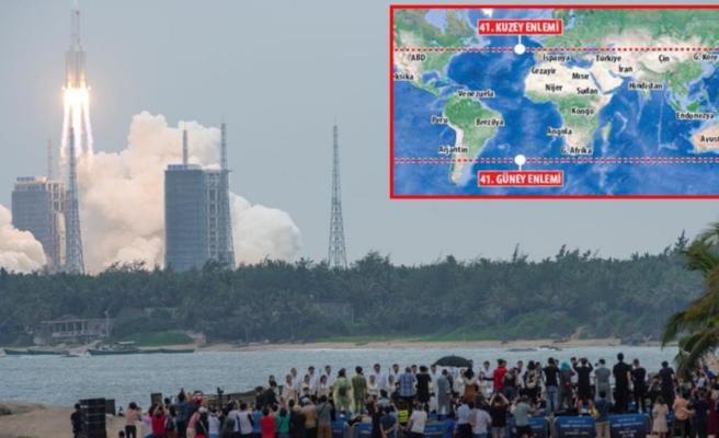 Dünya'ya düşecek dev roketle ilgili keyifleri kaçıracak harita! İstanbul ve Ankara da risk altında