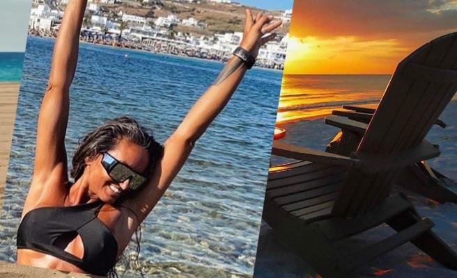 Eda Taşpınar'ın 'Mykonos'a kavuştum' sevinci
