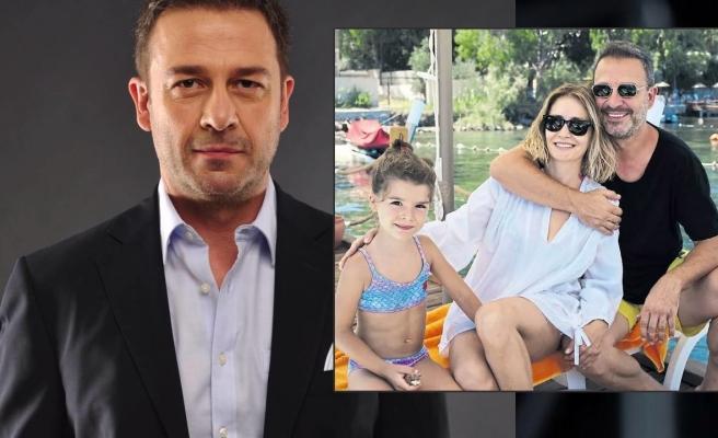 Ekranın yakışıklı oyuncusundan mutlu aile pozu