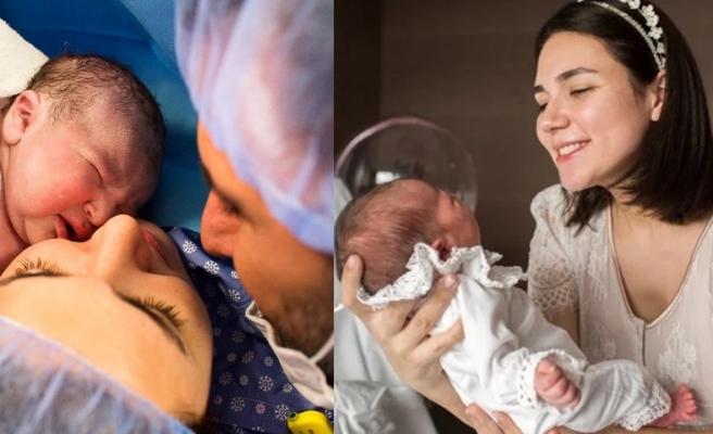 Eliz'in doğum anı fotoğrafları yayınlandı