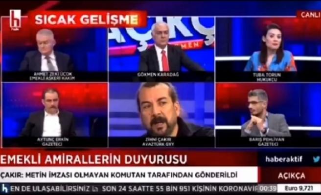 Emekli Amirallerin Bildirisini Yayımlayan Zihni Çakır: 'Yayımlanmadan Önce AKP'li Bir Bakana da Gönderildi'