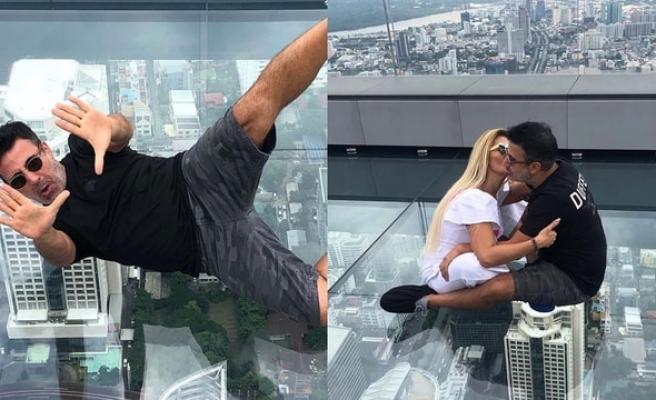 Emrah ve eşinin adrenalin dolu tatili