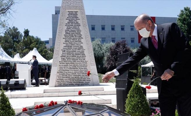 Erdoğan 15 Temmuz Anmasında: 'Hiç Kimsenin Bu Şanlı Mücadeleyi Önemsizleştirmeye Hakkı Yok'