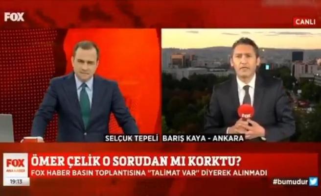 Fox TV Muhabiri: 'Ömer Çelik'in Basın Toplantısına Alınmadım'