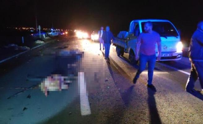 Gece karanlığında yol kan gölüne döndü! 6 kişi yaralandı, 34 koyun telef oldu