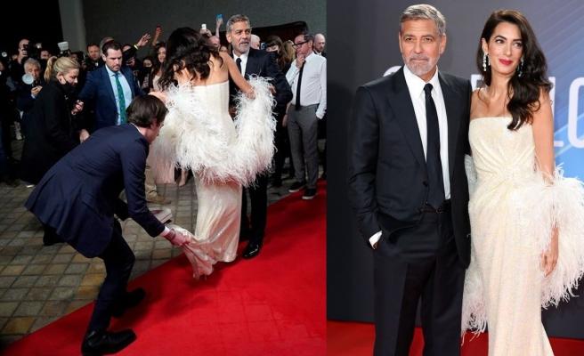 George Clooney eşinin imdadına koştu