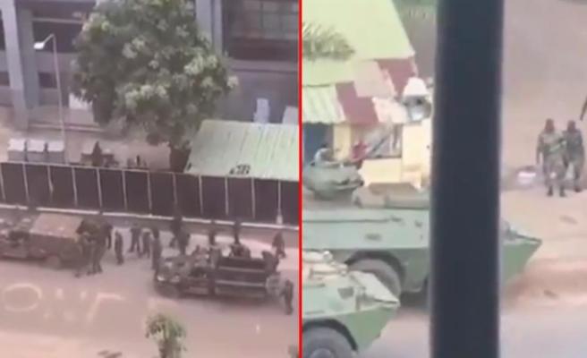 Gine'de darbe girişimi! Askerler sokağa indi, şehir merkezine girişler kapatıldı
