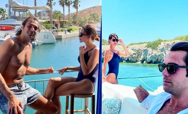 Hande Ataizi ve sevgilisi tekne turuna çıktı
